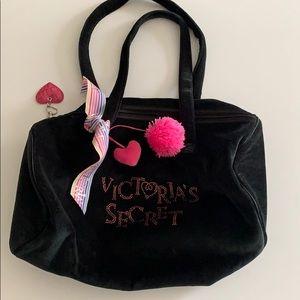 Pink Victoria's Secret Velour Duffle Bag
